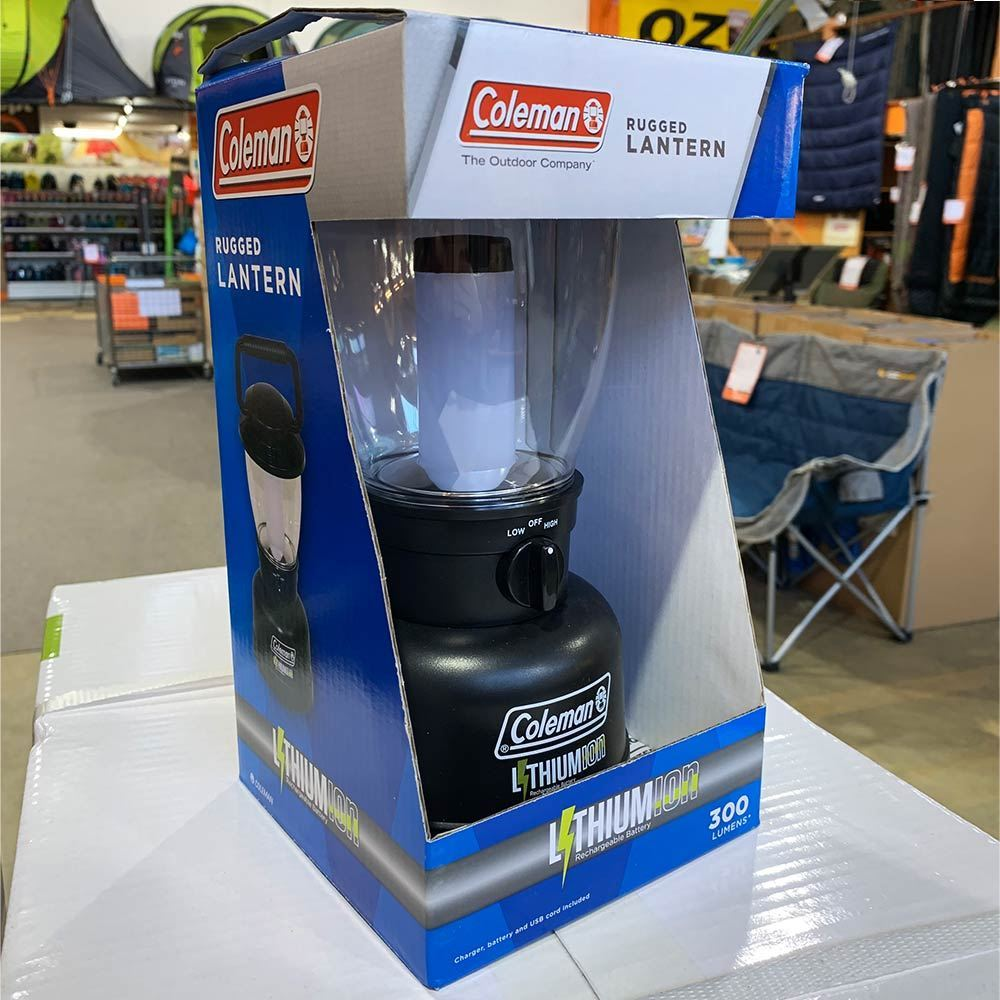 Coleman Lithium Ion LED Rugged Lantern - Packaging