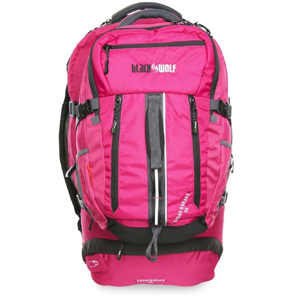 Black Wolf Cedar Breaks 55L Travel Pack - Front view