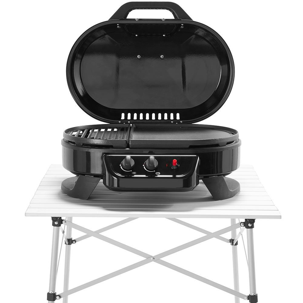 Coleman Roadtrip 225 Table Top 2 Burner Grill - resting on table