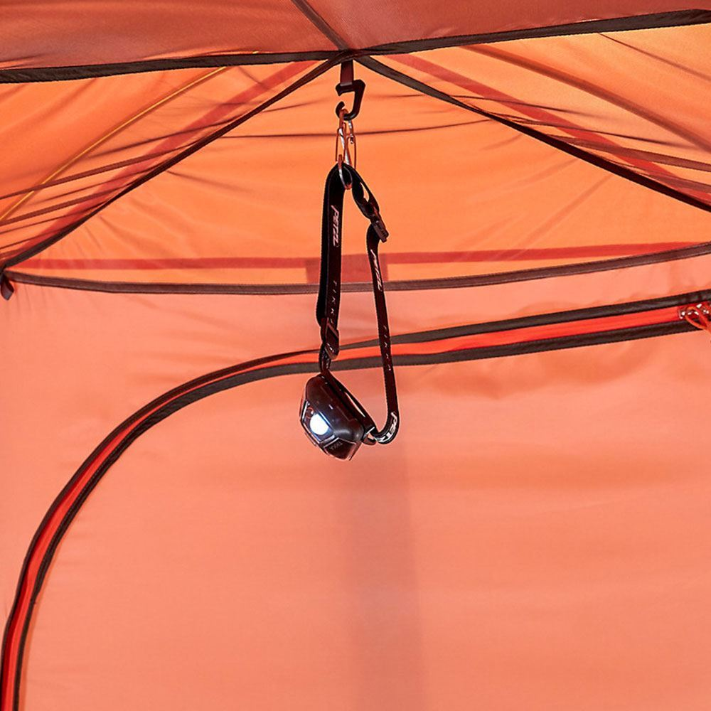 Marmot Catalyst 2P Tent - Headlamp hanging from centre hook