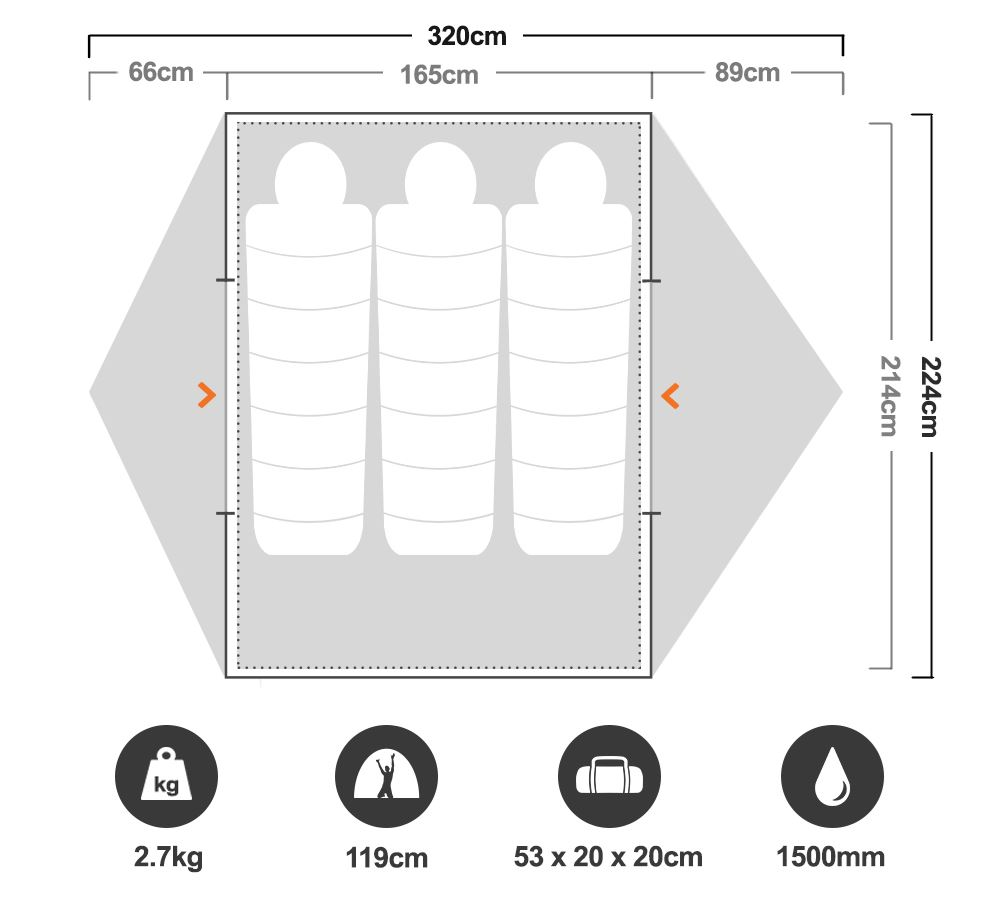 Catalyst 3P Tent - Floorplan