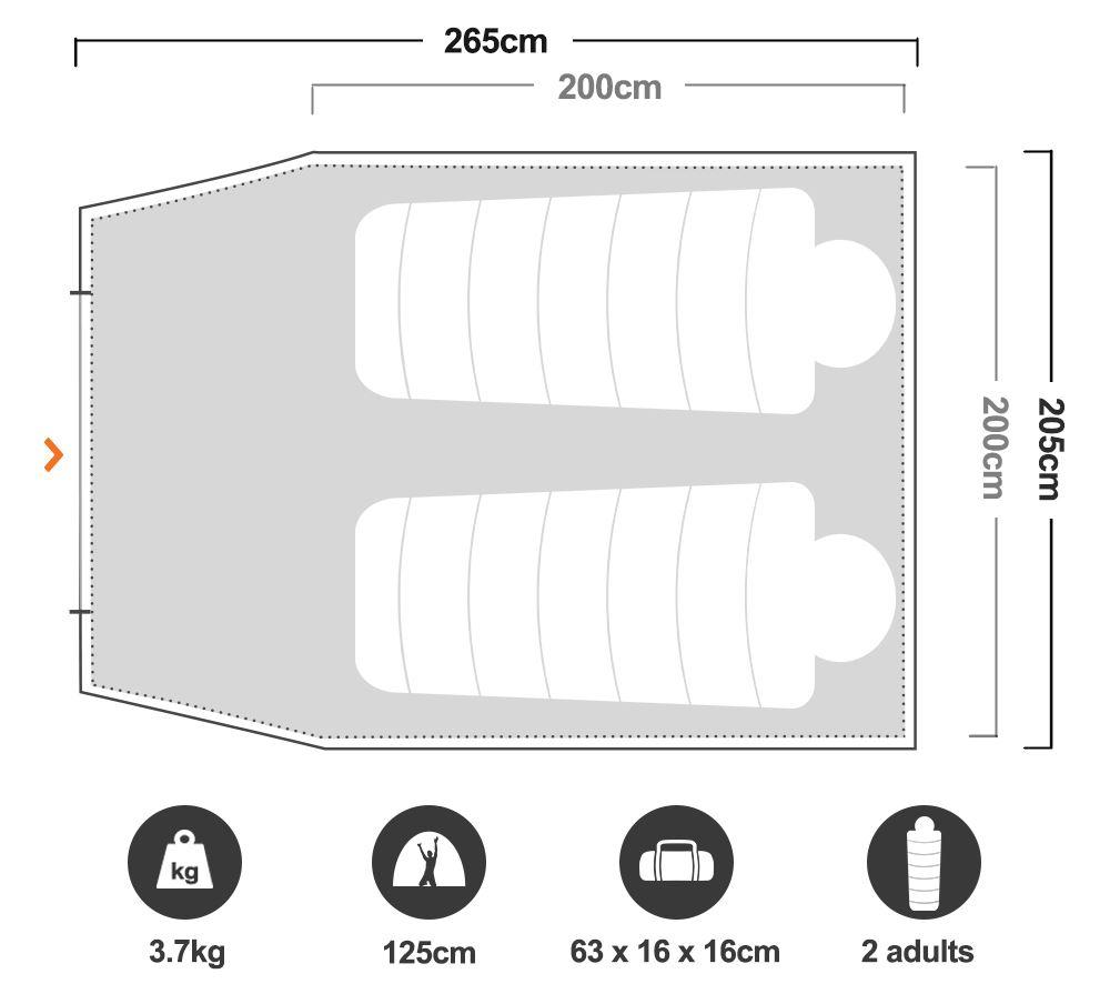 Skygazer 3XV Dome Tent - Floorplan