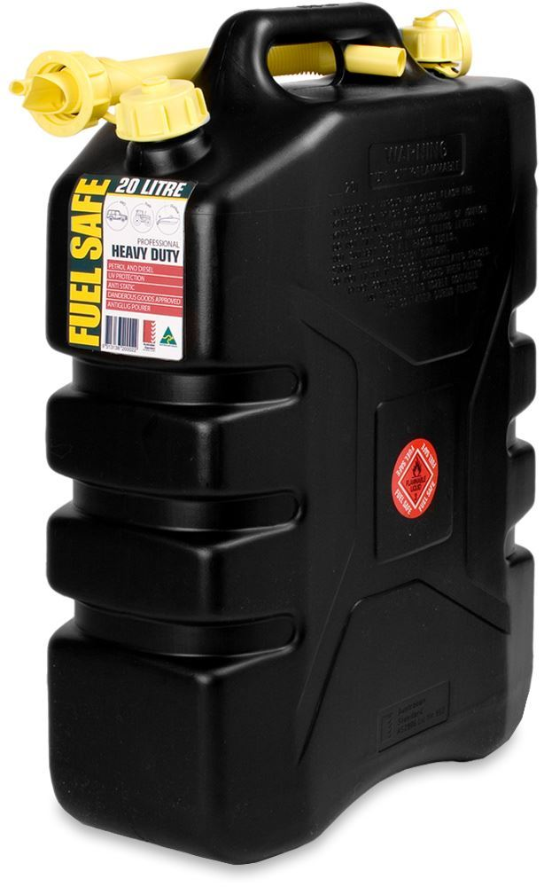 Haigh Fuel Safe HD Black Jerry Can 20L
