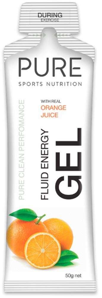 Pure Sports Nutrition Fluid Energy Gel Orange