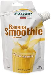 Back Country Cuisine Banana Smoothie GF - Front of packaging