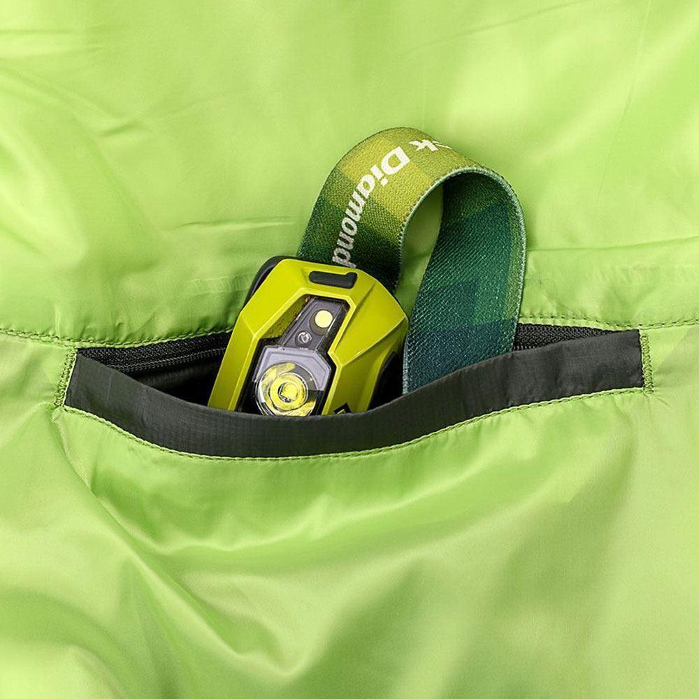 Marmot Trestles Elite Eco 30 Wmn's Sleeping Bag (-1 °C) Regular Wheatgrass Crocodile - Internal pocket with headlamp inside (sold separately)