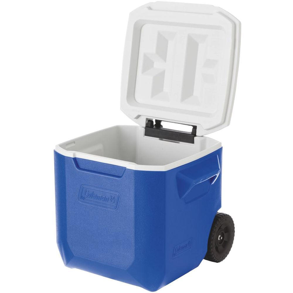 Coleman Wheeled Cooler 42L - Side view with lid open