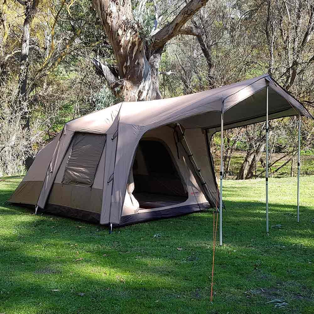 Black Wolf Turbo Plus 240 Touring Tent - Front and side view