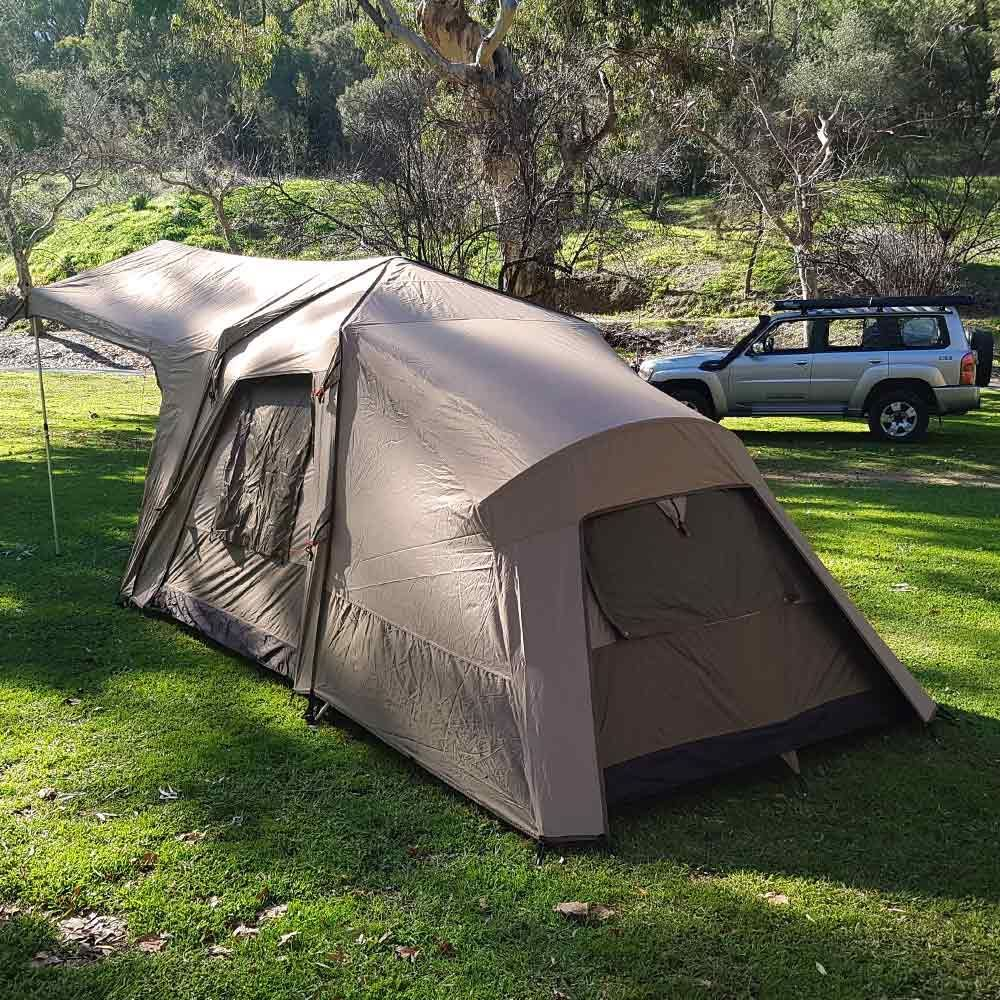 Black Wolf Turbo Plus 240 Touring Tent - Back and side view