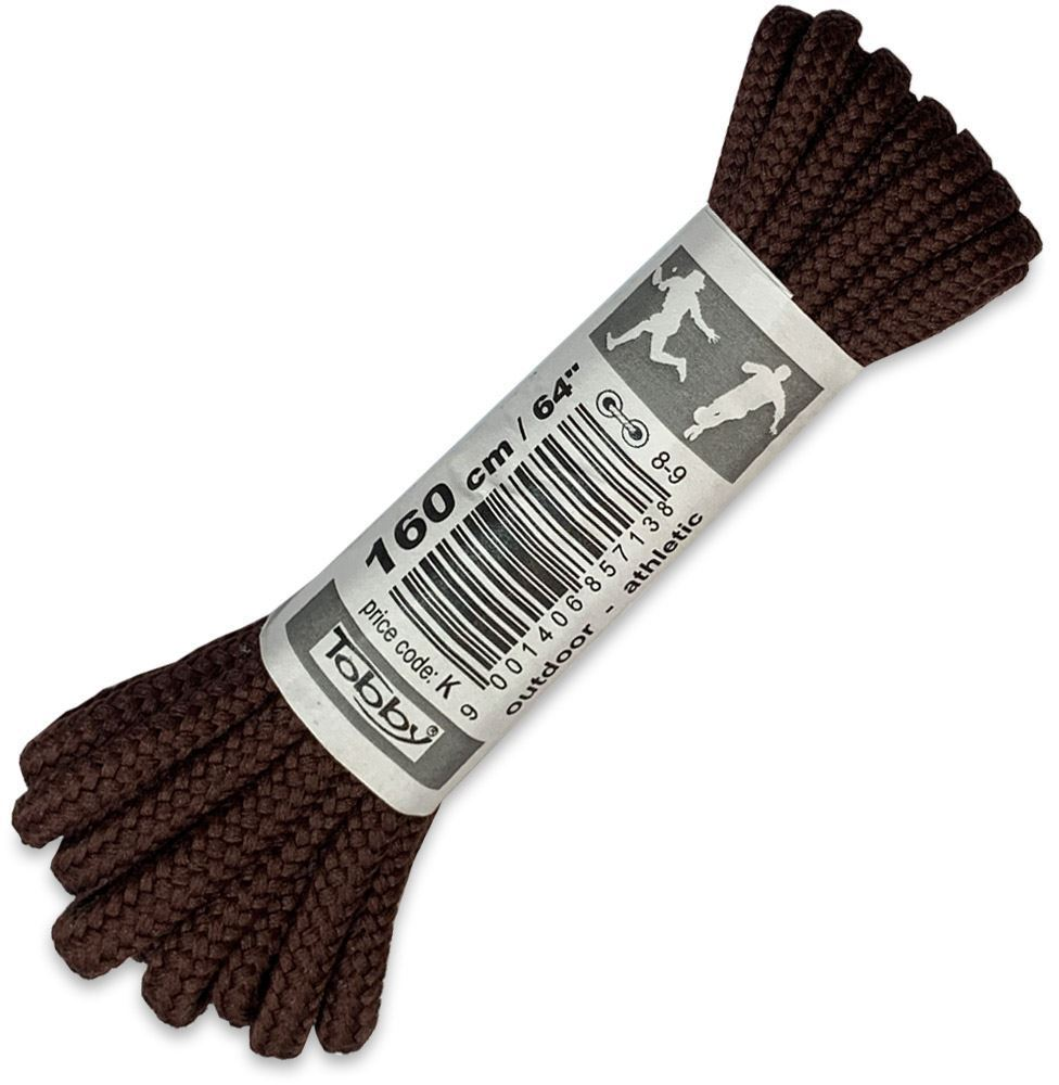 Tobby Shoe laces Round 160cm Brown