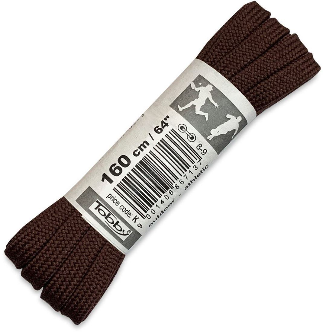 Tobby Shoe Laces Flat 160cm Brown