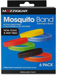 MozziGear Adult Mosquito Bands 6 Pk