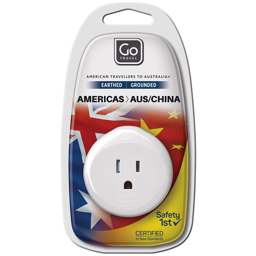 Go Travel US Travellers to Aus & China Adaptor