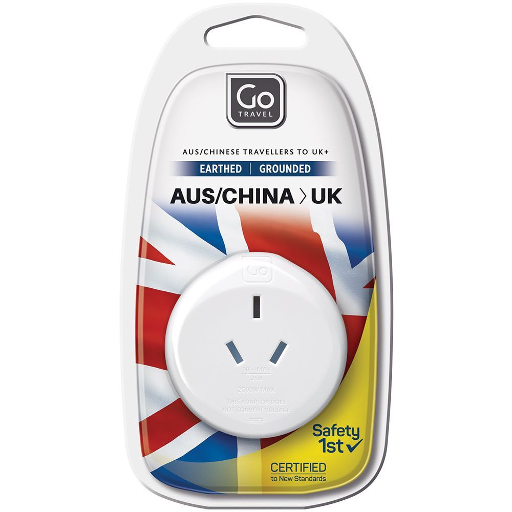Go Travel Aus & Chineses Travellers to UK Adaptor