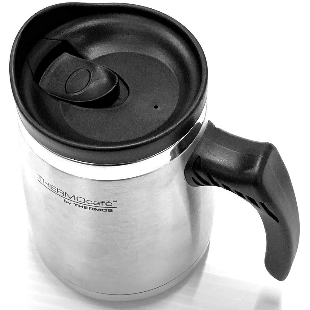 Thermos 450ml SS Dble Wall Wide Base Mug - Top view