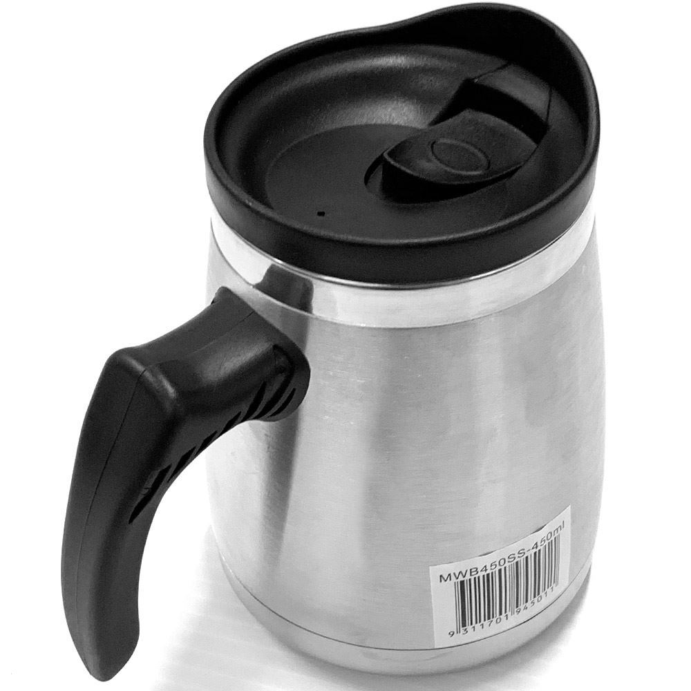 Thermos 450ml SS Dble Wall Wide Base Mug - Top back view