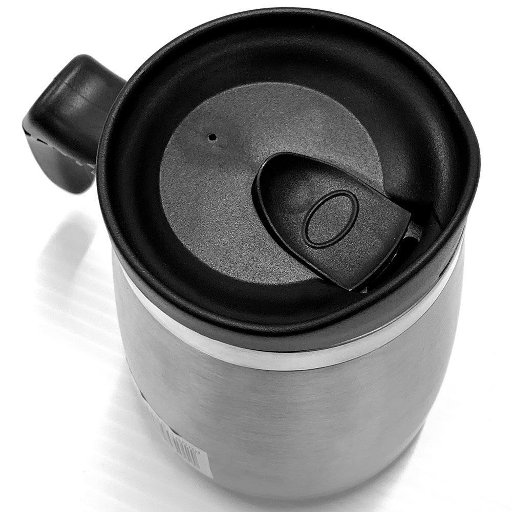 Thermos 450ml SS Dble Wall Wide Base Mug - Lid view (open)