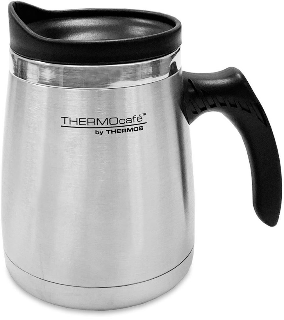 Thermos 450ml SS Dble Wall Wide Base Mug - Side view