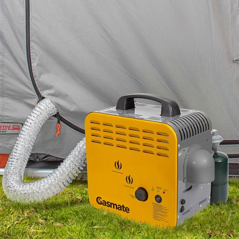 Gasmate Ducted Camping Heater - outdoors