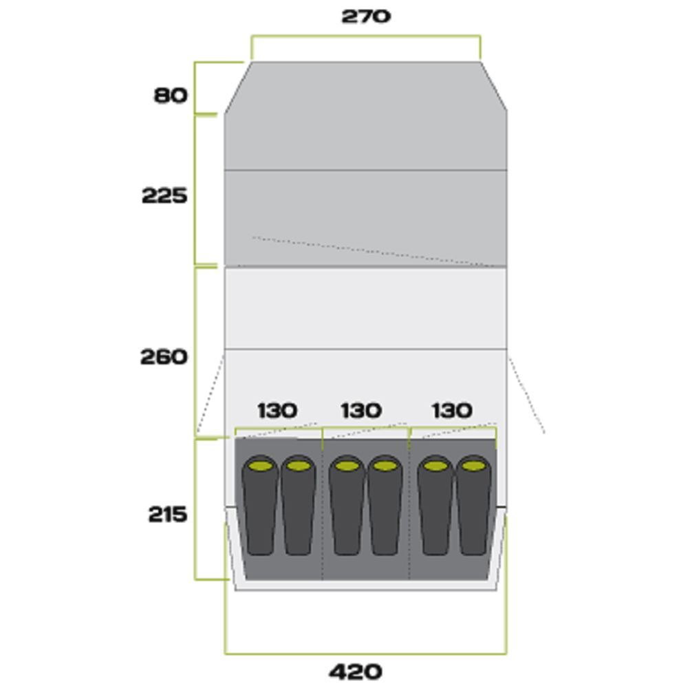 Zempire Aero TXL Family Air Tent - Floorplan