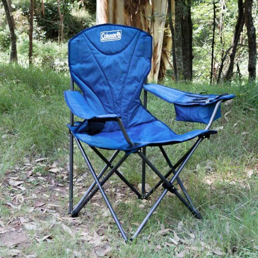 Coleman King Size Cooler Arm Chair Blue - Setup outdoors