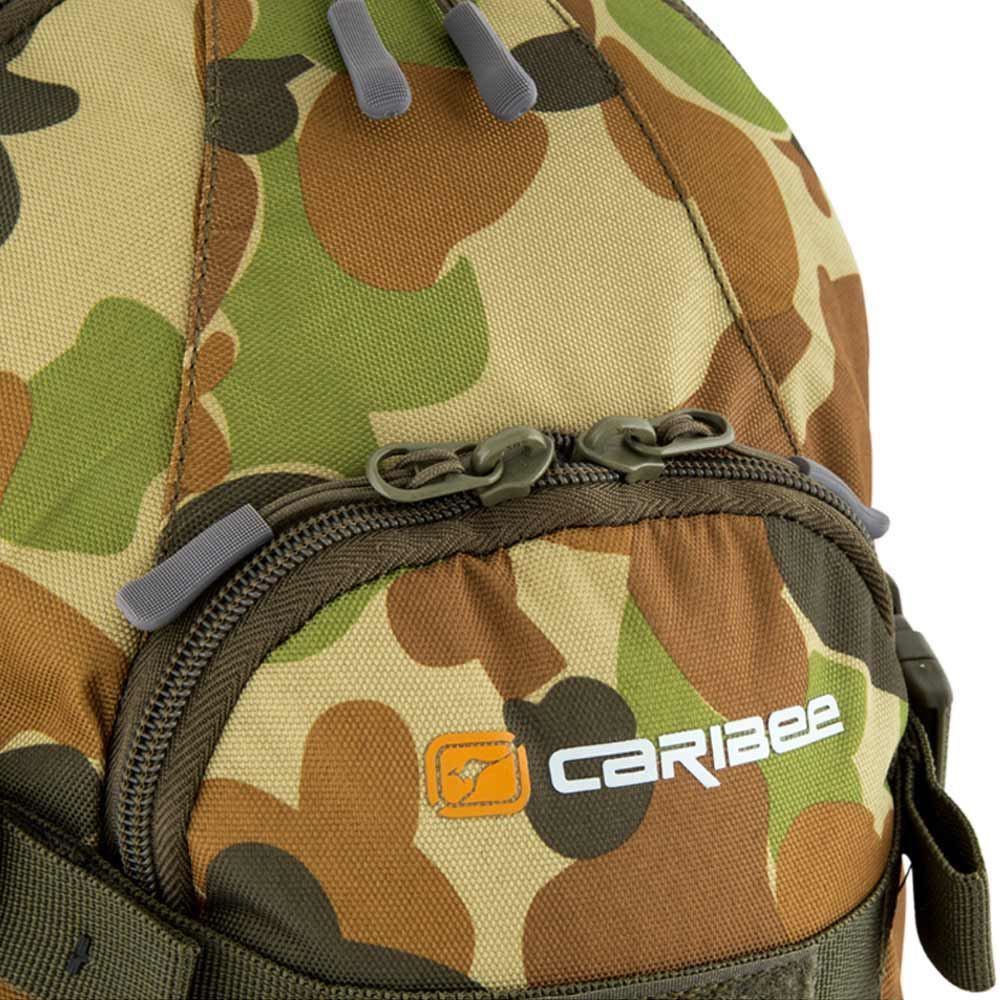 Caribee Patriot 18L Auscam Daypack - Close up view of front pocket