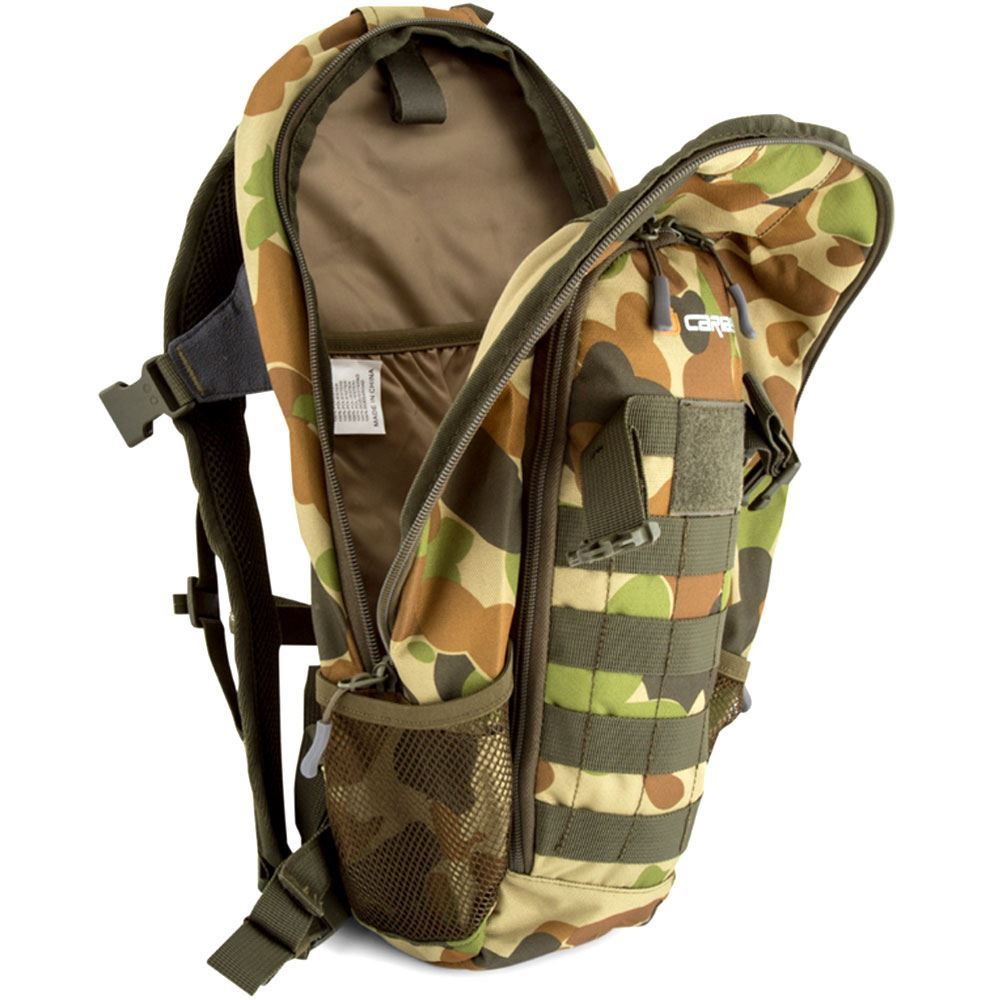 Caribee Patriot 18L Auscam Daypack - Main compartment open