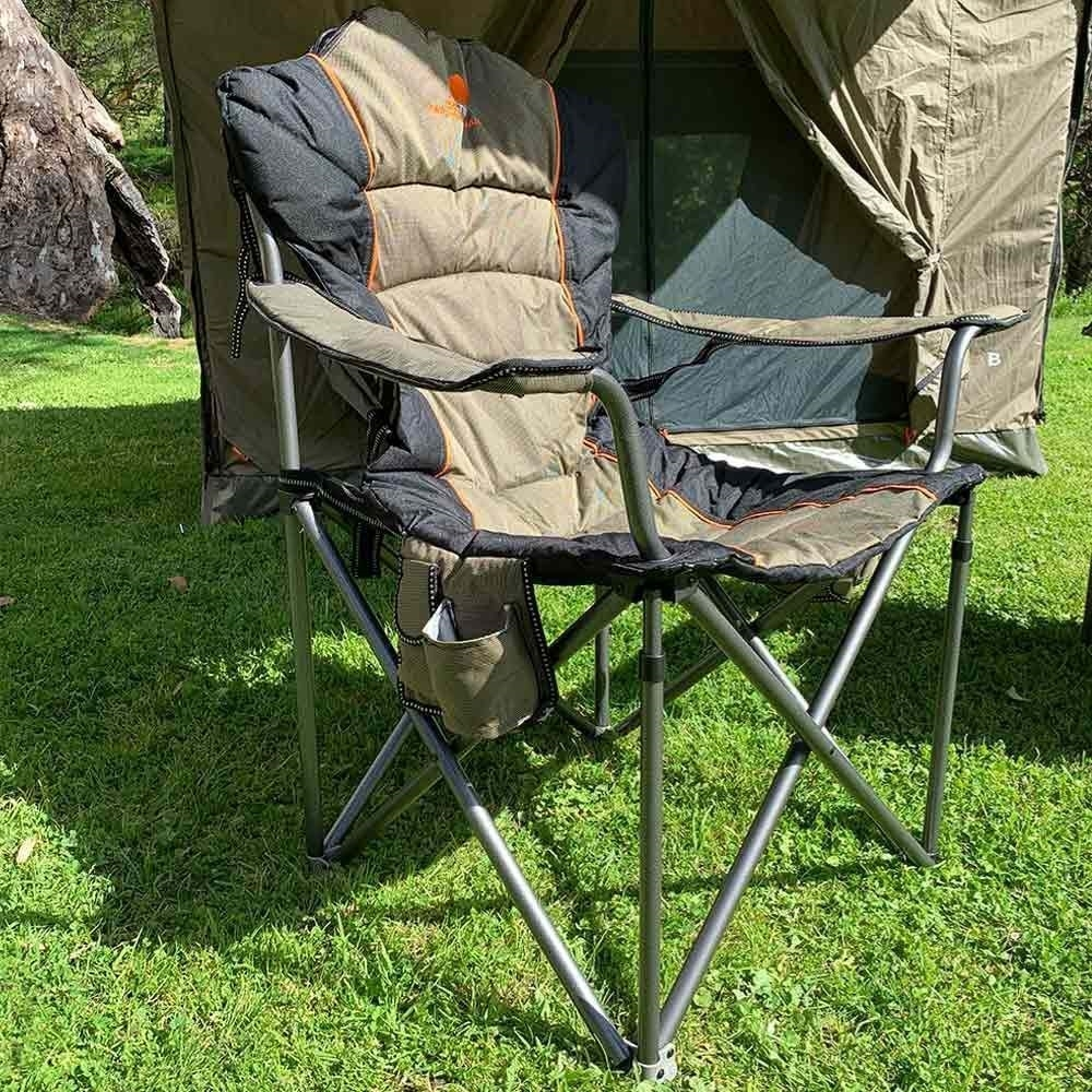 Oztent King Goanna Camp Chair - Close up view of chair