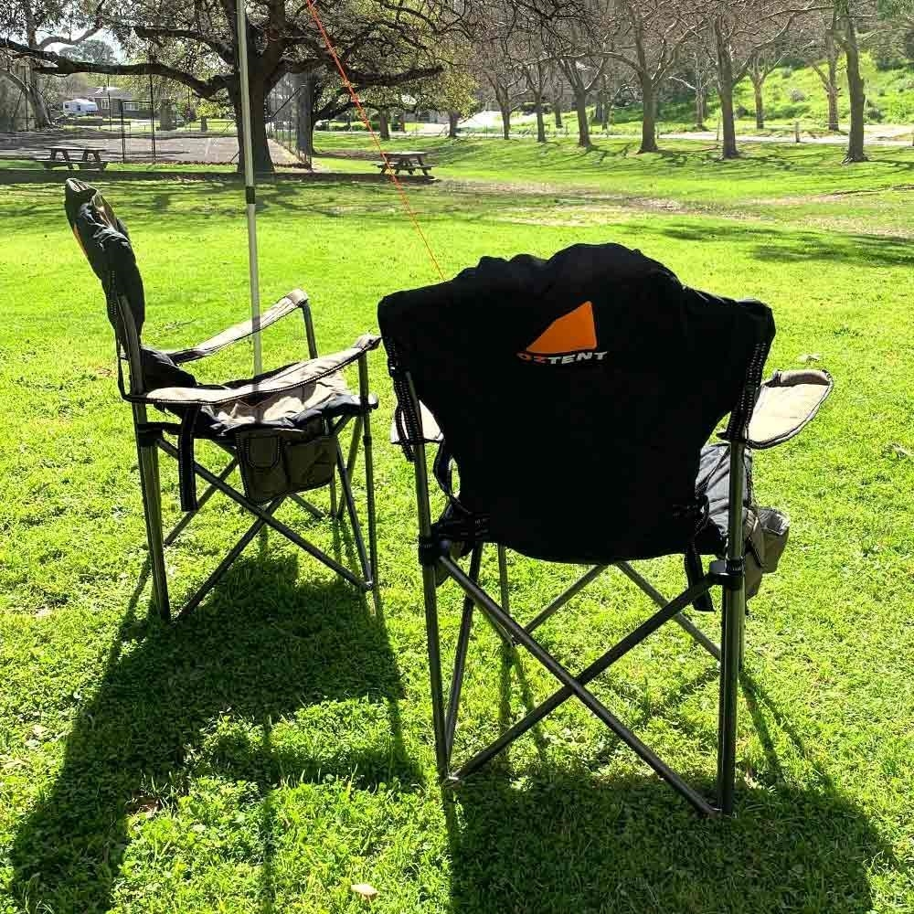 Oztent King Goanna Camp Chair - Back view of chair