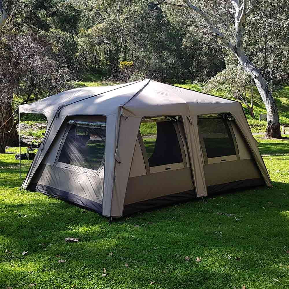 Black Wolf Turbo Lite Cabin 450 Quick Pitch Family Tent - Back view