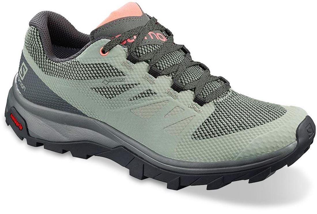 Salomon Outline GTX Wmn's Shoe Shadow Urban Chic Coral Almond