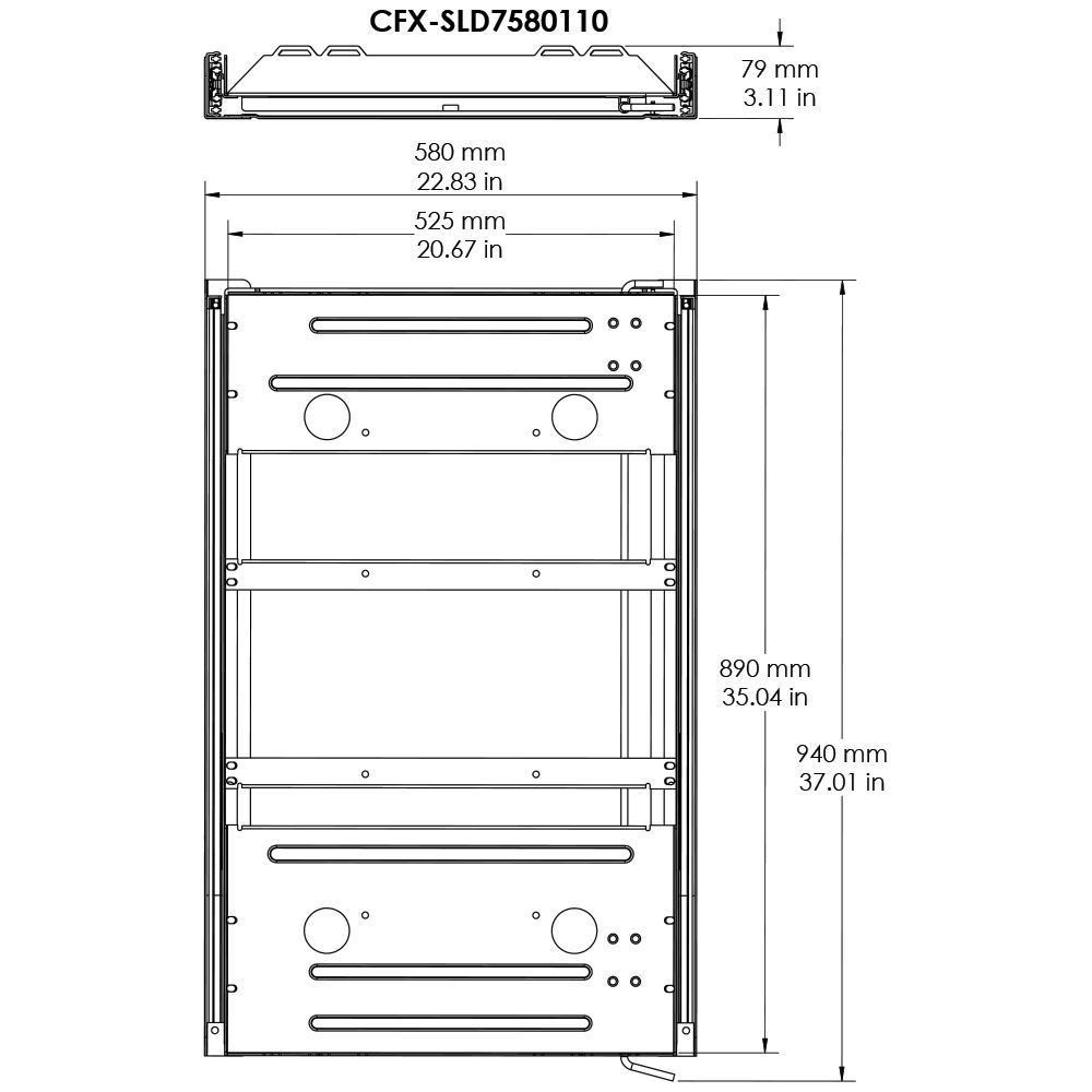 Dometic CFX Fridge Slide 75 - Diagram