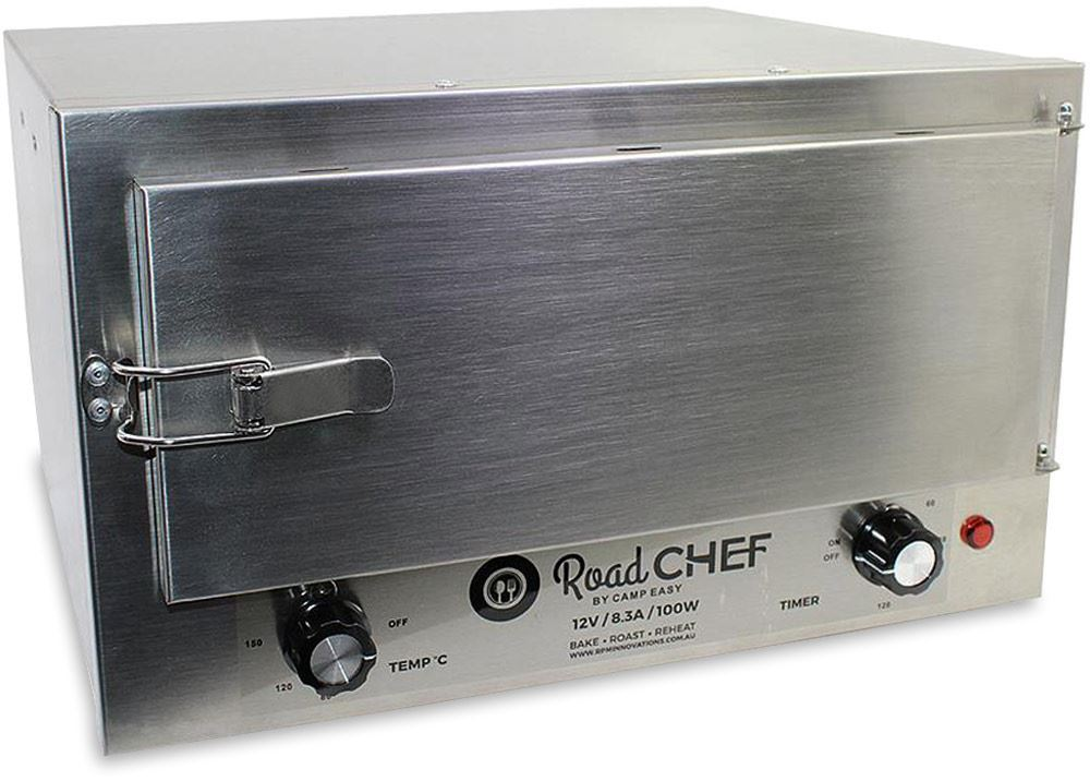 Road Chef 12V Camping Oven Closed Door