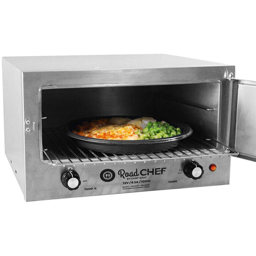 Road Chef 12V Camping Oven - Cooking meal