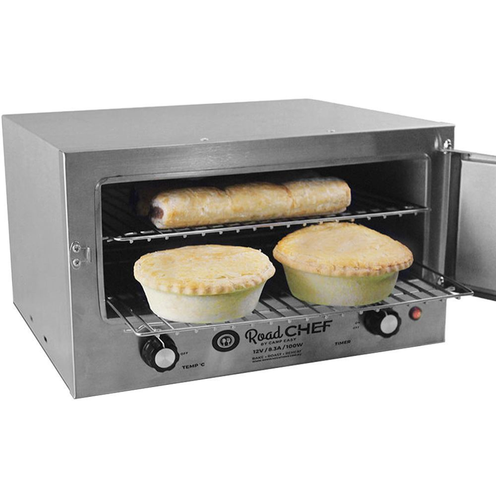 Road Chef 12V Camping Oven - Cooking pies