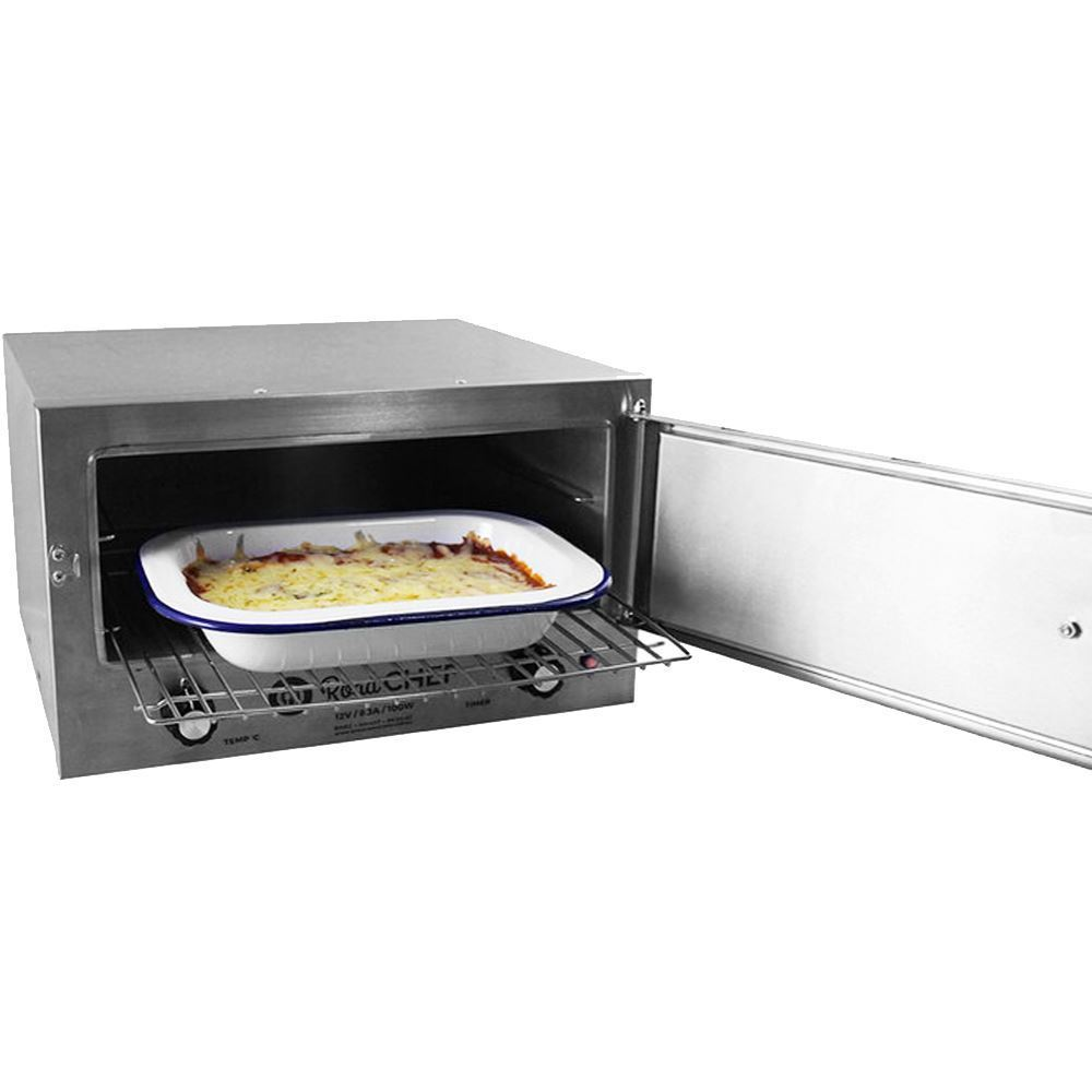 Road Chef 12V Camping Oven - Cooking lasagne