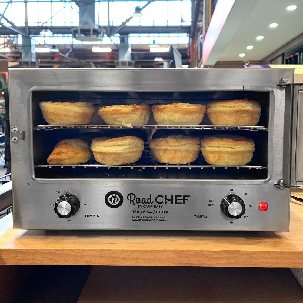 Road Chef 12V Camping Oven - Party pies cooking