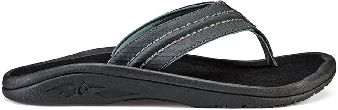 Olukai Hokua Men's Thong Dark Shadow Black