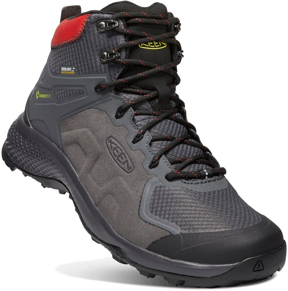 Keen Explore Mid WP Men's Boot Magnet Fiery Red