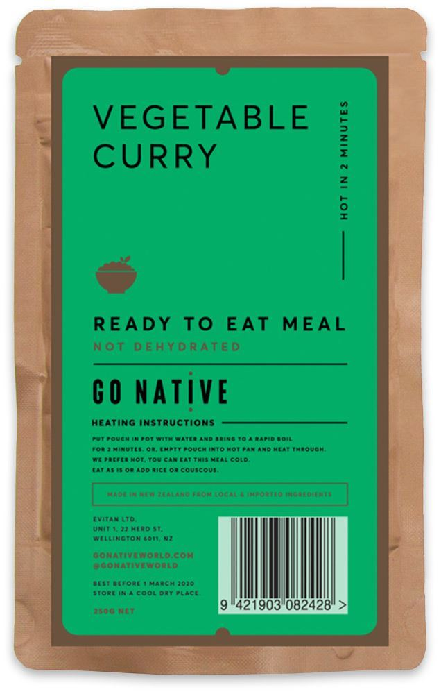Go Native Vegetable Curry 250g