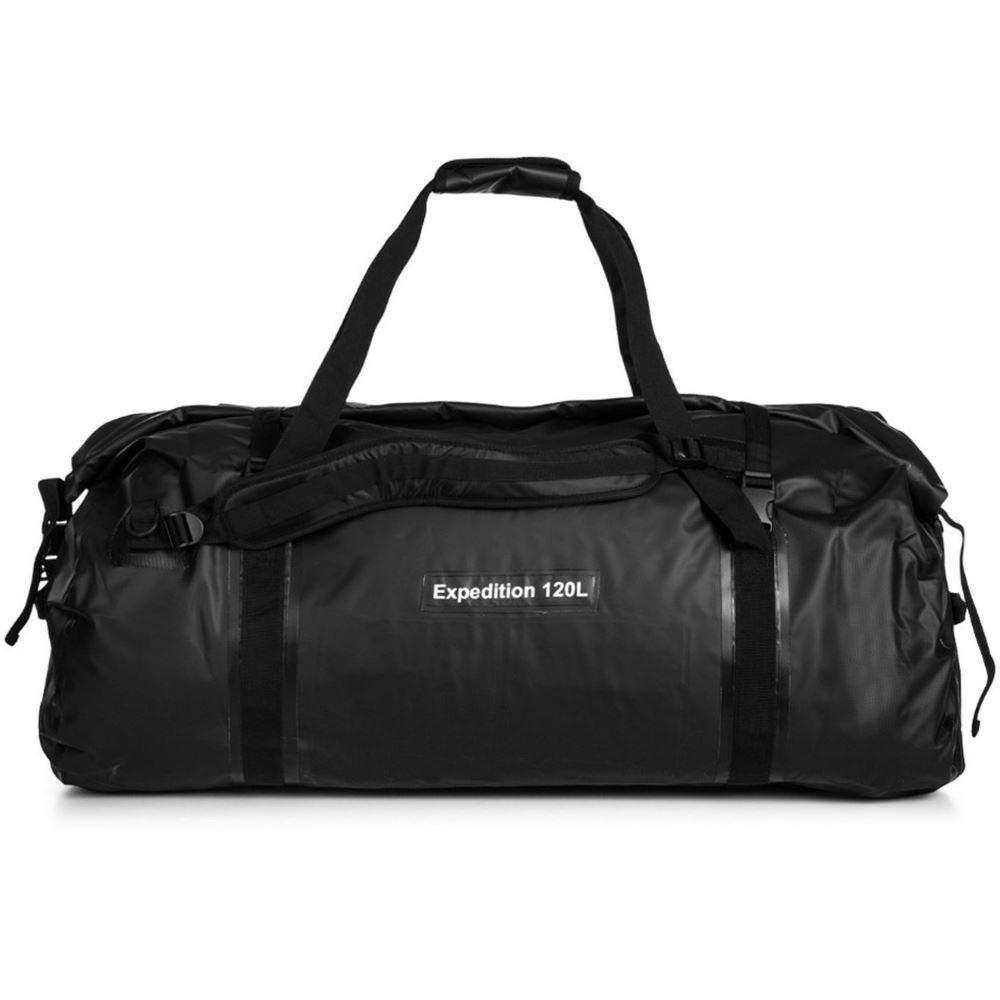 Caribee Expedition Wet Roll Bag 120L Black - Front view