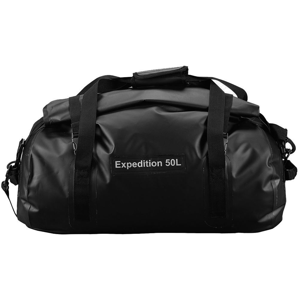 Caribee Expedition Wet Roll Bag 50L Black - Front view