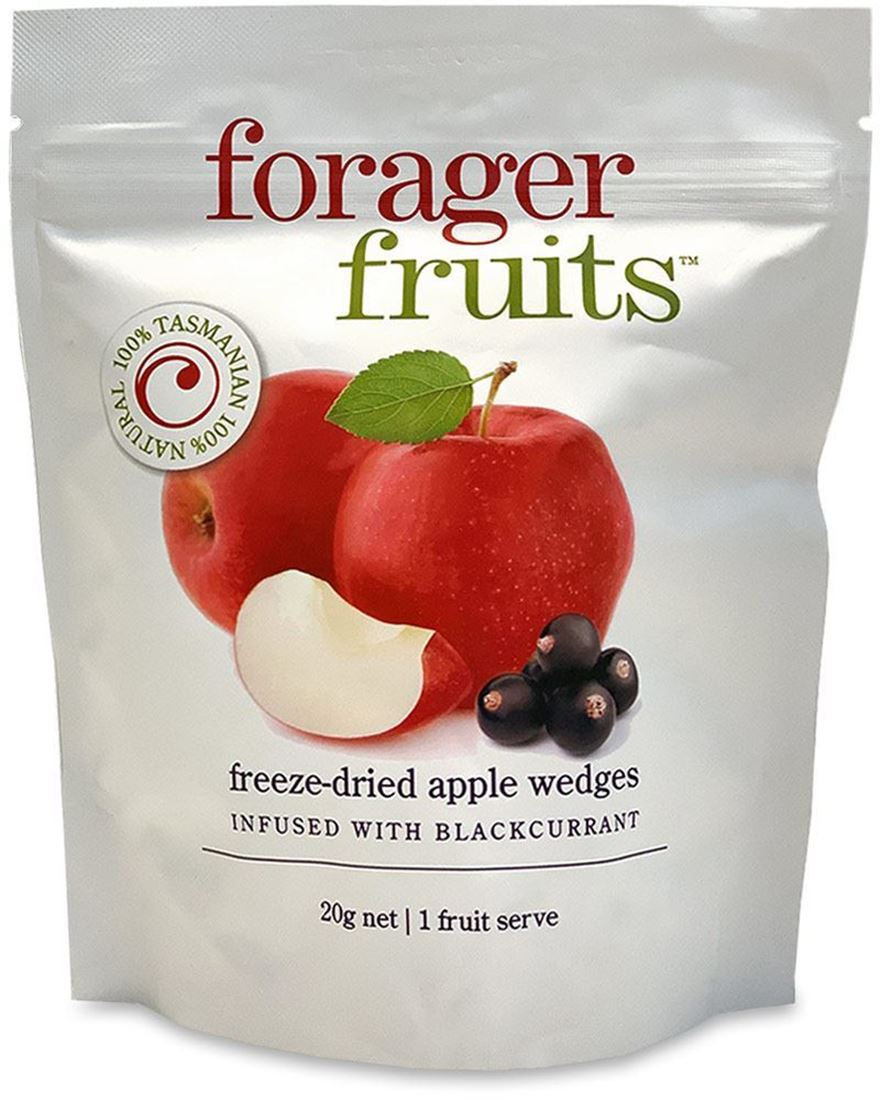 Forager Fruits Apple Wedges Blackcurrant Infused