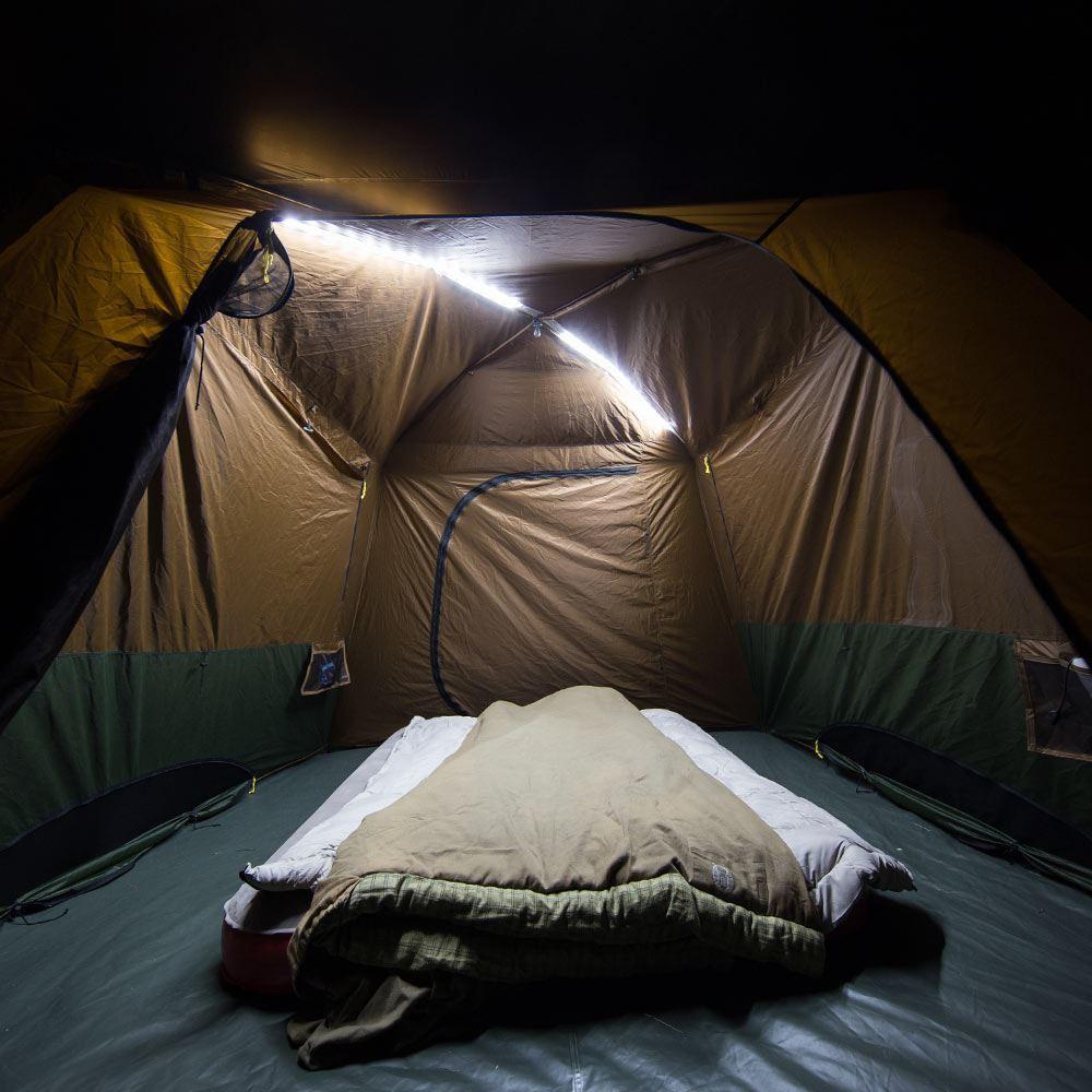 Coleman Instant Up 6P Lighted Northstar Darkroom Tent Integrated LED Lighting