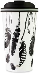Avanti Go Cup Double Wall Insulated Cup 410ml Feathers