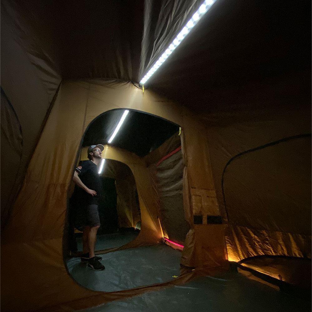 Coleman Instant Up 10P Lighted Northstar Darkroom Tent - LED strip lighting