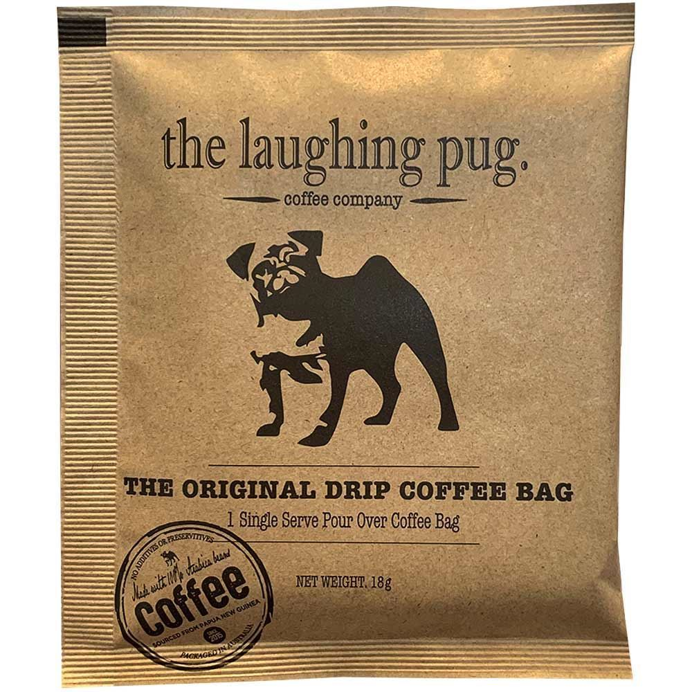 The Laughing Pug Drip Coffee Bag 10Pk Organic Individual
