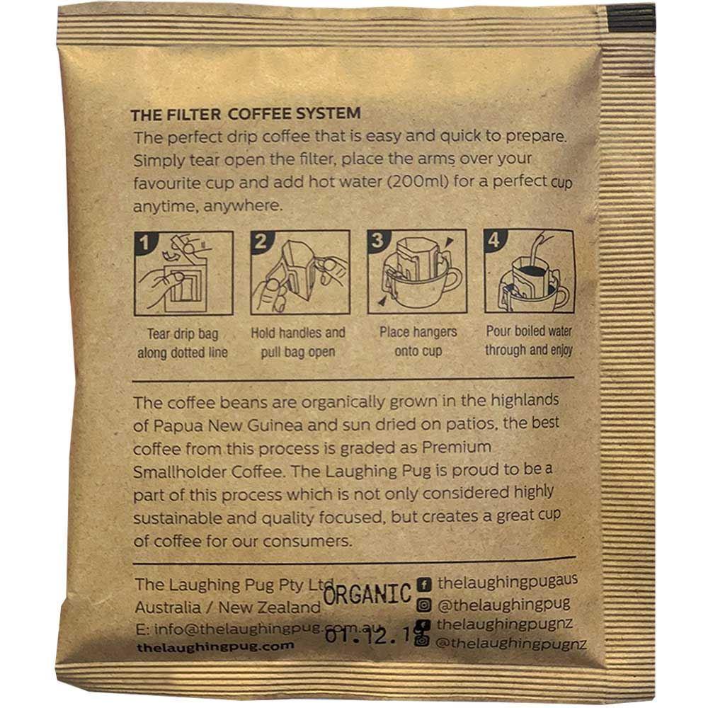 The Laughing Pug Drip Coffee Bag 10Pk Organic How-to