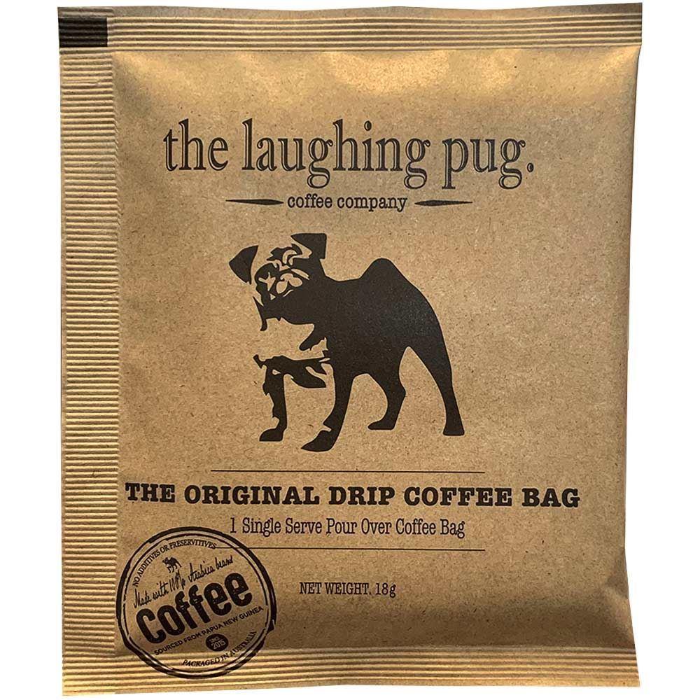 The Laughing Pug Drip Coffee Bag 10Pk Doggfather Blend Individual