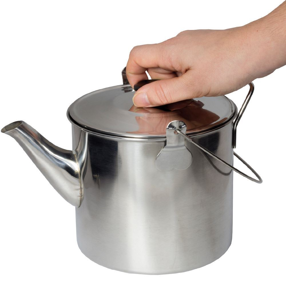 Campfire Billy Teapot Stainless Steel - Holding lid knob